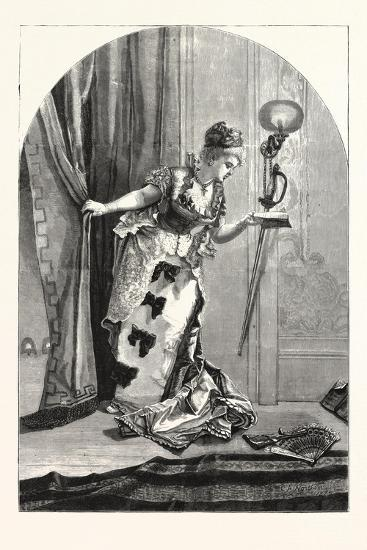 Private, Theatricals: Just before the Curtain Rises. Theatre, 1876, Uk--Giclee Print