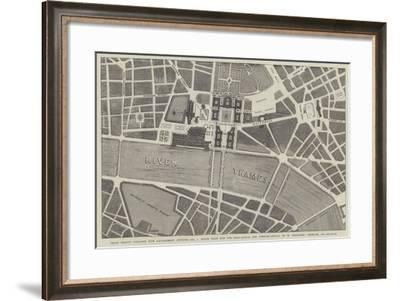 Prize Design for the New Government Offices--Framed Giclee Print