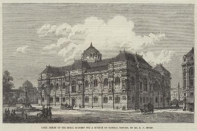 Prize Design of the Royal Academy for a Museum of Natural History-Richard Phene Spiers-Giclee Print