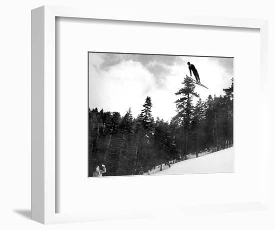 Prize Winnning Leap (b/w photo)--Framed Photographic Print