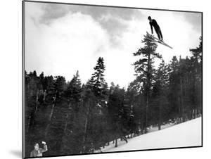 Prize Winnning Leap (b/w photo)