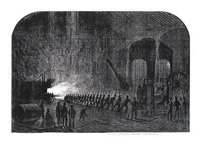 Process of Rolling Armour-Plates for Her Majesty's Ships at the Alas Steelworks, Sheffield-Mason Jackson-Giclee Print