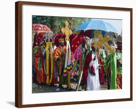 Procession During the Festival of Rameaux, Axoum, Ethiopia, Africa-J P De Manne-Framed Photographic Print