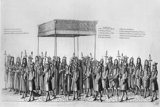 Procession for the Coronation of James II of England--Giclee Print