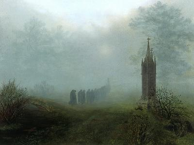 Procession in the Mist, 1828-Ernst Ferdinand Oehme-Giclee Print