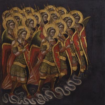 Procession of Armed Angels-Guariento Di Arpo-Art Print