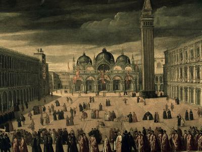 Procession of Doge and His Entourage in Piazza San Marco in Venice-Cesare Vecellio-Giclee Print