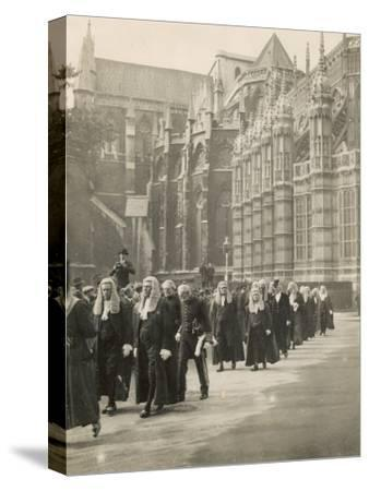 Procession of Judges at Westminster Abbey a Custom Before the Opening of the Law Courts