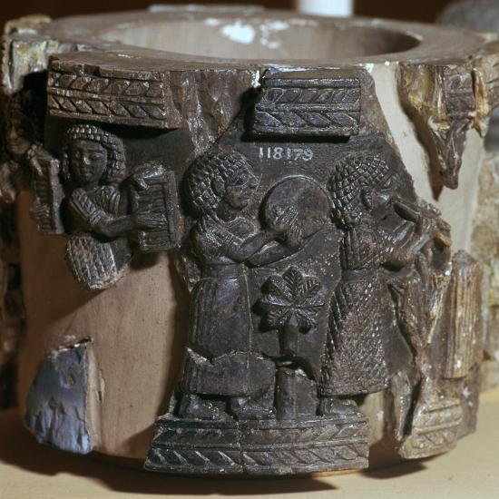 Procession of musicians on a steatite pyxis, 8th century BC. Artist: Unknown-Unknown-Giclee Print