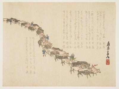 Procession of Oxen, January 1865-Hanzan Matsukawa-Giclee Print