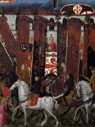 Procession of Palios of San Giovanni in Baptistery of Florence, Decoration on Wedding Chest, Italy--Giclee Print