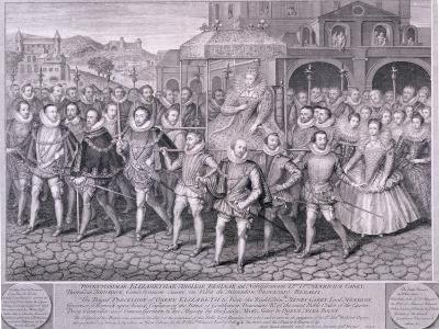 Procession of Queen Elizabeth I to Blackfriars, London, 16 June 1600-George Vertue-Giclee Print