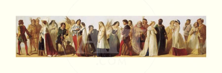 Procession of Shakespeare Characters Art Print by Daniel Maclise | Art com