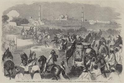 Procession of Sikh Chiefs and Others at Lahore--Giclee Print