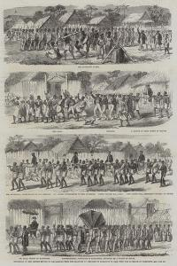 Procession of the British Envoys to Madagascar from the Seashore to the Fort of Tamatave to Dine wi