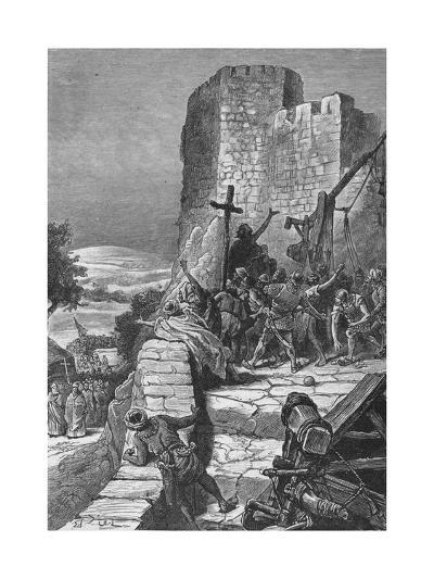 Procession of the Crusaders Round the Walls of Jerusalem, 1099--Giclee Print