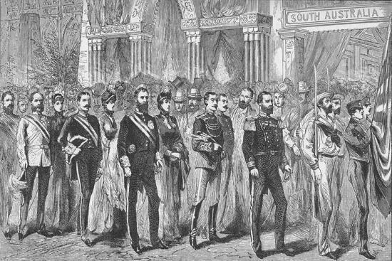 Procession of the Governors of Australia at the Melbourne Exhibition of 1888-Unknown-Giclee Print