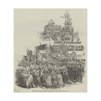 Procession of the Great National Fete at Paris, Statue of the Republic--Giclee Print