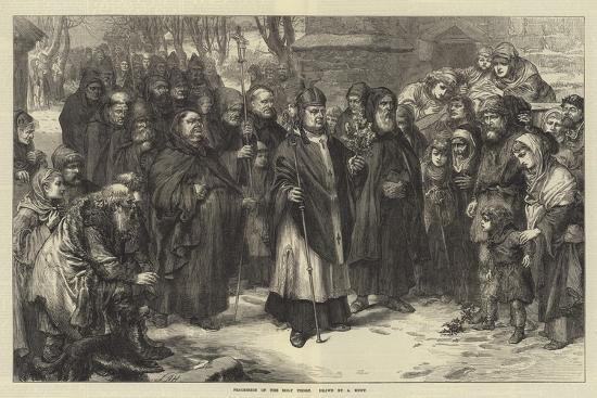 Procession of the Holy Thorn--Giclee Print