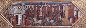 Procession of the Horses at San Giovanni in Florence, Marriage Chest, Italy 15th Century