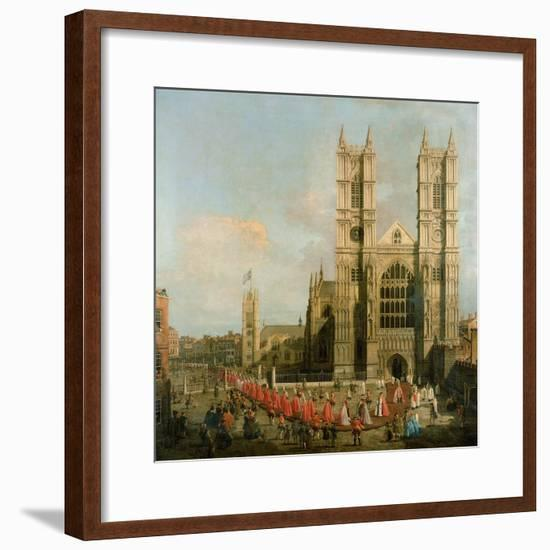 Procession of the Knights of the Bath-Canaletto-Framed Giclee Print