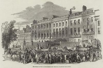 Procession of the London Temperance League, in Lincoln's Inn Fields--Giclee Print
