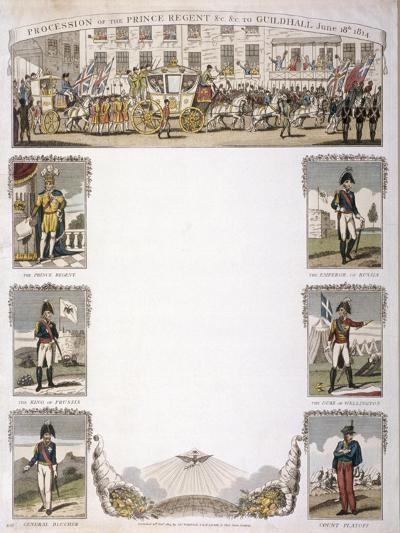 Procession of the Prince Regent, 1814--Giclee Print