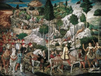 Procession of the Youngest King-Gozzoli Benozzo-Art Print