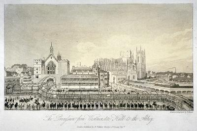 Procession Outside Westminster Hall, London, 1821-W Read-Giclee Print