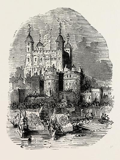 Procession Quitting the Tower London--Giclee Print