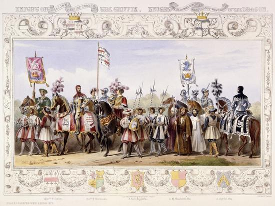 Procession to the Lists, 1843-James Henry Nixon-Giclee Print