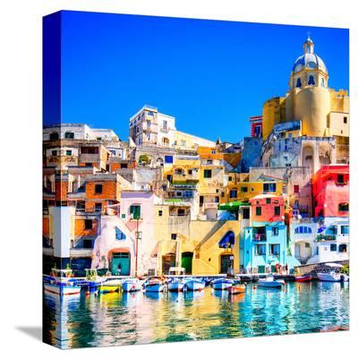 Procida Island Naples - Italy--Stretched Canvas Print