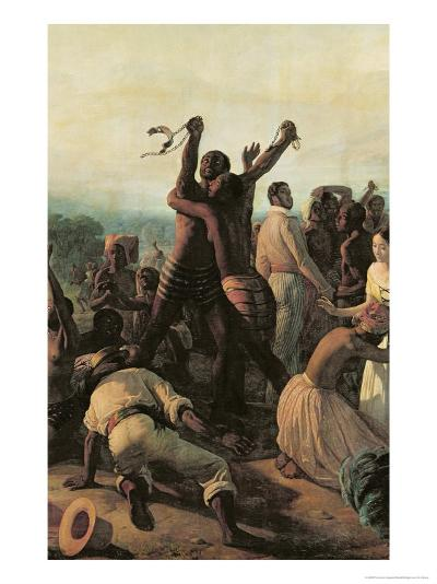 Proclamation of the Abolition of Slavery in the French Colonies, 23rd April 1848, 1849-Francois Auguste Biard-Giclee Print
