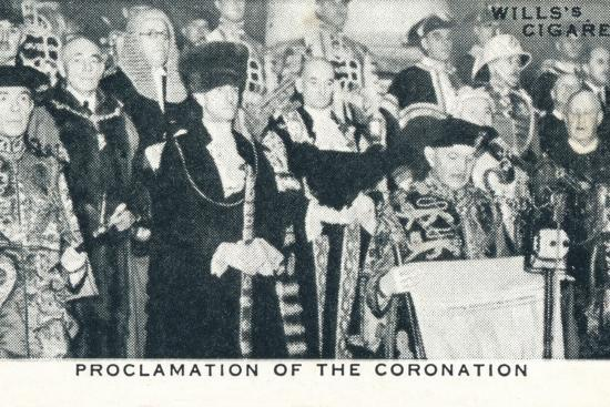 'Proclamation of the Coronation', 1936 (1937)-Unknown-Photographic Print