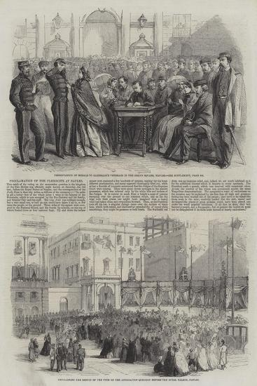 Proclamation of the Plebiscite at Naples--Giclee Print