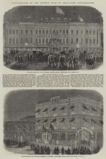 Proclamation of the Queen's Rule in India, the Illuminations--Giclee Print