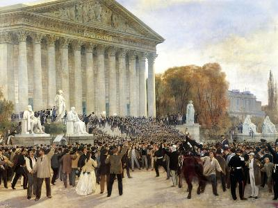 Proclamation of Third Republic in Paris, September 4, 1870, France--Giclee Print
