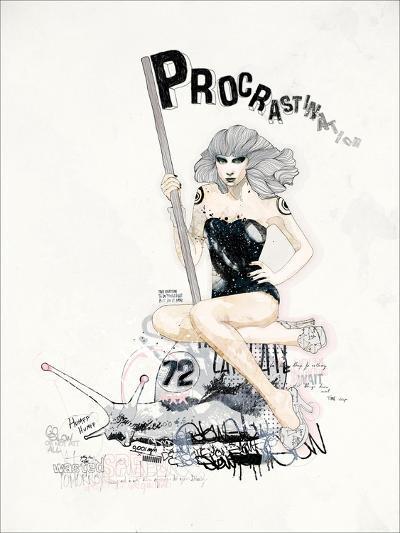 ProcrastiNATION-Mydeadpony-Art Print