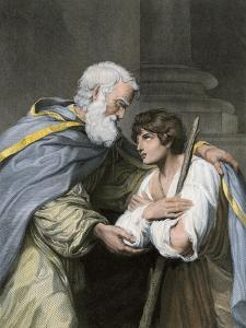 Prodigal Son Returns Home and Asks His Father's Forgiveness, a Parable in the Biblical Book of Luke