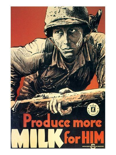 Produce More Milk for Him, c.1943--Art Print