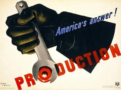 Production, America's Answer!--Giclee Print