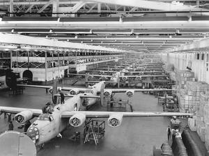 Production Line of B-24 Liberators