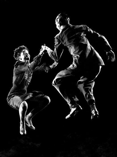 Professional Dancers Willa Mae Ricker and Leon James Show Off the Lindy Hop-Gjon Mili-Photographic Print