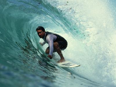 Professional Surfer Riding a Wave-Rick Doyle-Photographic Print
