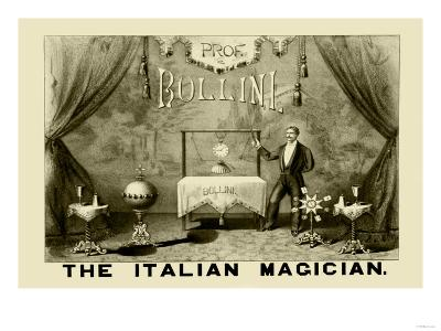 Professor Bollini, The Italian Magician--Art Print