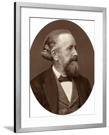 Professor Edward Frankland, 1880-Lock & Whitfield-Framed Photographic Print