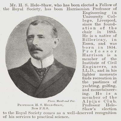 Professor H S Hele-Shaw--Giclee Print