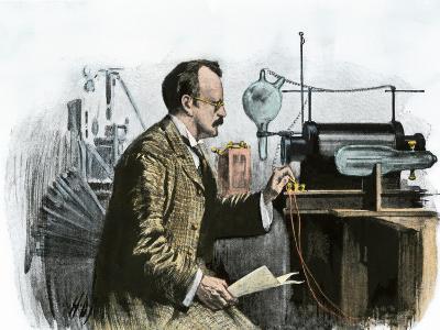 Professor J. J. Thomson in His Laboratory--Giclee Print