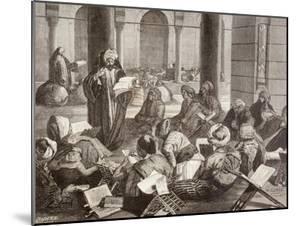 Professor Lecturing at the Al-Azhar University, Cairo, in the 19th Century, from 'El Mundo…