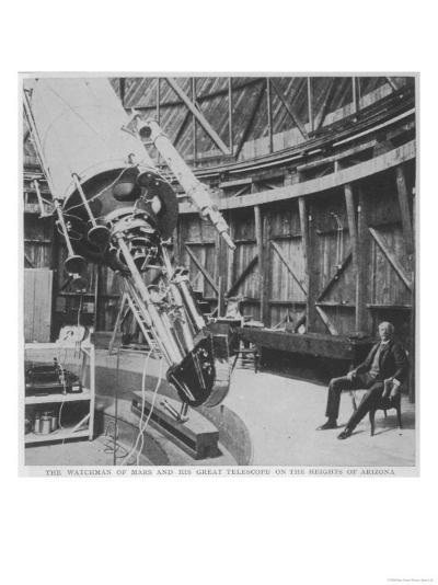 Professor Percival Lowell in the Observatory He Built at Flagstaff Arizona--Giclee Print
